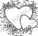 Дизайнерски печати и надписи за картички-Сърчица