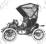Design stamps and inscriptions-Retro vehicles