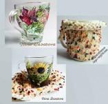 Рисувани и облечени чаши