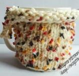 Рисувани и облечени чаши-Порцеланови чаши с плетена дрешка