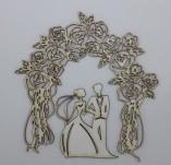 Елементи от бирен картон и дърво-Лазерно изрязани елементи любов