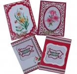 Картички-Картички с бродерия ръчно изработени