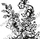 Design stamps and inscriptions-Floral elements