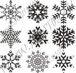 Дизайнерски печати и надписи за картички-Снежинки