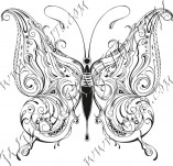 Design stamps and inscriptions-Butterflies
