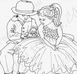 21/1028/Дизайнерски печати и надписи за картички-Романтика-До теб съм щастлив