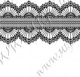 115/1034/Дизайнерски печати и надписи за картички-Печати на дантели-Печат на дантела 1