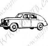 116/1063/Дизайнерски печати и надписи за картички-Ретро превозни средства-Ретро кола 14