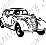 116/1064/Дизайнерски печати и надписи за картички-Ретро превозни средства-Ретро кола 15