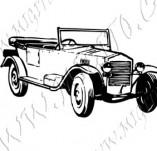 116/1065/Дизайнерски печати и надписи за картички-Ретро превозни средства-Ретро кола 16