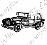 116/1066/Дизайнерски печати и надписи за картички-Ретро превозни средства-Ретро кола 17