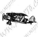 116/1068/Дизайнерски печати и надписи за картички-Ретро превозни средства-Ретро самолет 2