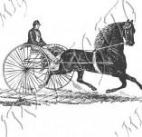 116/1069/Дизайнерски печати и надписи за картички-Ретро превозни средства-Колесница