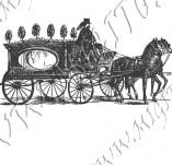 116/1070/Дизайнерски печати и надписи за картички-Ретро превозни средства-Карета