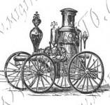 116/1071/Дизайнерски печати и надписи за картички-Ретро превозни средства-Парна кола