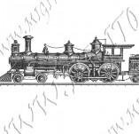 116/1072/Дизайнерски печати и надписи за картички-Ретро превозни средства-Ретро влак