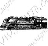 116/1073/Дизайнерски печати и надписи за картички-Ретро превозни средства-Ретро влак 2