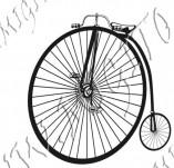116/1074/Дизайнерски печати и надписи за картички-Ретро превозни средства-Ретро колело 1