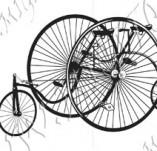 116/1075/Дизайнерски печати и надписи за картички-Ретро превозни средства-Ретро колело 2