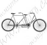 116/1077/Дизайнерски печати и надписи за картички-Ретро превозни средства-Ретро колело 4
