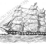 101/1078/Дизайнерски печати и надписи за картички-Морски-Кораб 3