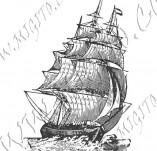 101/1079/Дизайнерски печати и надписи за картички-Морски-Кораб 4
