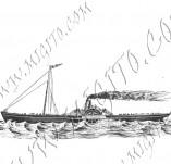 101/1080/Дизайнерски печати и надписи за картички-Морски-Кораб 5