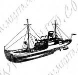 101/1081/Дизайнерски печати и надписи за картички-Морски-Кораб 6