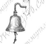 101/1083/Дизайнерски печати и надписи за картички-Морски-Камбана на кораб