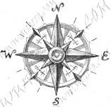 101/1085/Дизайнерски печати и надписи за картички-Морски-Компас