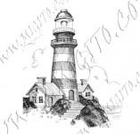101/1087/Дизайнерски печати и надписи за картички-Морски-Фар
