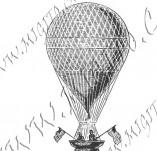 116/1090/Дизайнерски печати и надписи за картички-Ретро превозни средства-Балон
