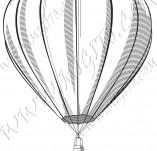 116/1091/Дизайнерски печати и надписи за картички-Ретро превозни средства-Балон 2