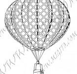 116/1092/Дизайнерски печати и надписи за картички-Ретро превозни средства-Балон 3