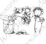 23/1099/Дизайнерски печати и надписи за картички-Цветя-Роза 6