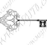 117/1106/Дизайнерски печати и надписи за картички-Ключове-Ключ 1