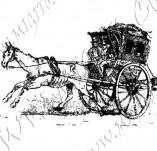 116/1117/Дизайнерски печати и надписи за картички-Ретро превозни средства-Каляска