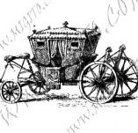 116/1118/Дизайнерски печати и надписи за картички-Ретро превозни средства-Каляска 2