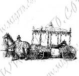 116/1119/Дизайнерски печати и надписи за картички-Ретро превозни средства-Карета 2