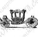 116/1120/Дизайнерски печати и надписи за картички-Ретро превозни средства-Каляска 3