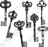117/1140/Дизайнерски печати и надписи за картички-Ключове-Сет ключове 1