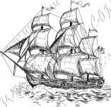 101/1141/Дизайнерски печати и надписи за картички-Морски-Кораб 7