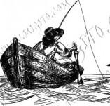 101/1142/Дизайнерски печати и надписи за картички-Морски-Лодкар