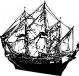 101/1148/Дизайнерски печати и надписи за картички-Морски-Кораб 12