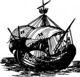 101/1153/Дизайнерски печати и надписи за картички-Морски-Кораб 17