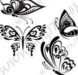 96/1162/Дизайнерски печати и надписи за картички-Пеперуди-Сет пеперуди 1