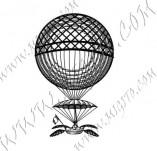 116/1164/Дизайнерски печати и надписи за картички-Ретро превозни средства-Балон 4