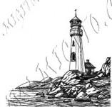 101/1165/Дизайнерски печати и надписи за картички-Морски-Фар 2