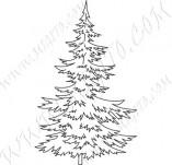 22/1169/Дизайнерски печати и надписи за картички-Дървета-Ела 3