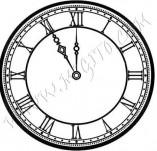 25/1184/Дизайнерски печати и надписи за картички-Нова Година-Часовник